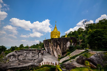 Golden Pagoda And Golden Stone...