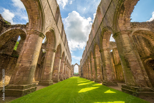 Fountains Abbey in North Yorkshire Canvas Print