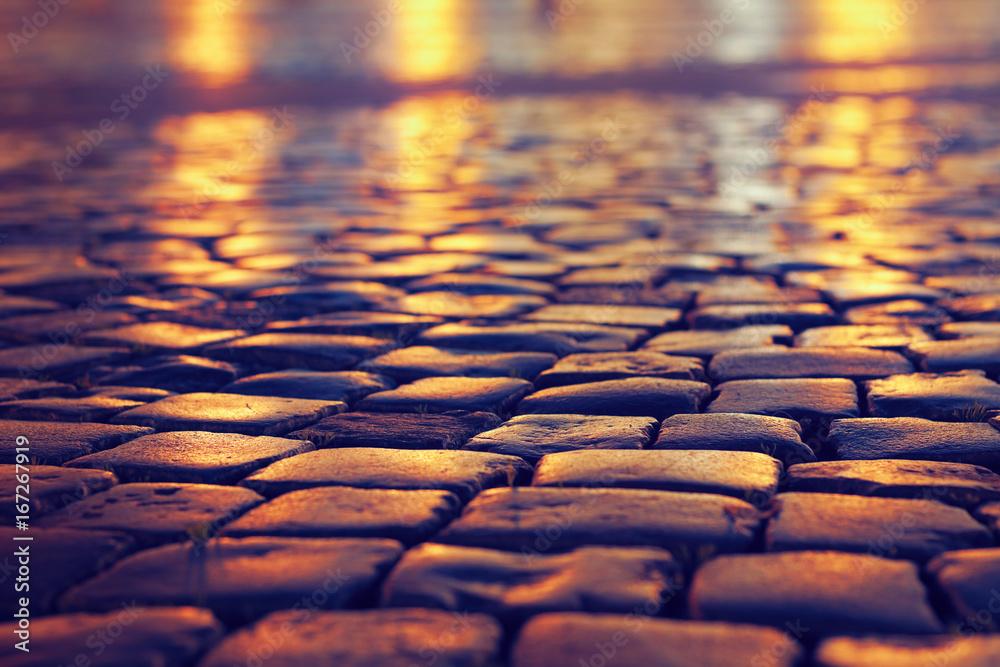 Fototapety, obrazy: cobblestone pavement