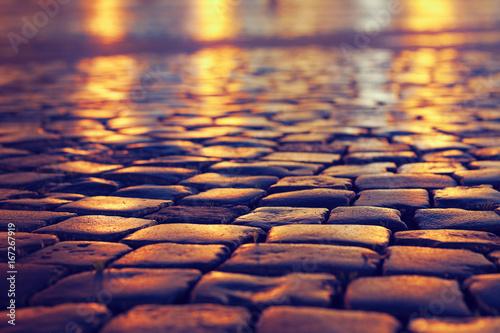 Fotomural cobblestone pavement