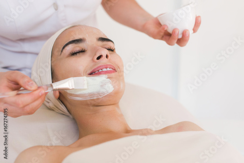 Spa facial mask application Wallpaper Mural