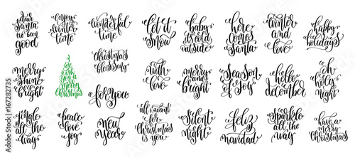 happy new year celebration holidays hand lettering quotes