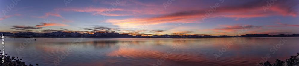 Fototapety, obrazy: Panoramic Lake Tahoe Sunset