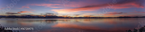 Fotografia Panoramic Lake Tahoe Sunset