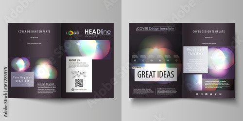 Business Templates For Bi Fold Brochure Magazine Flyer Booklet Report Cover