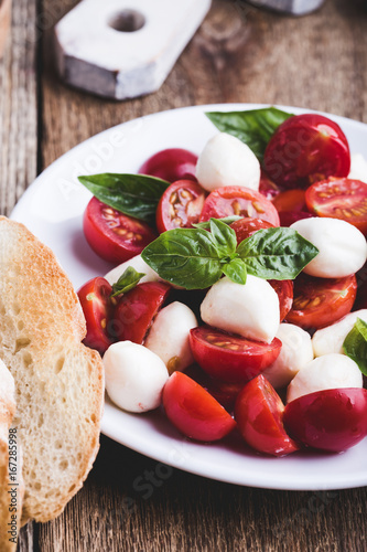 Traditional caprese salad Canvas Print