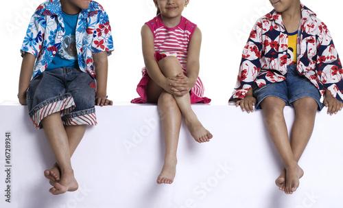 Photo  Children sitting
