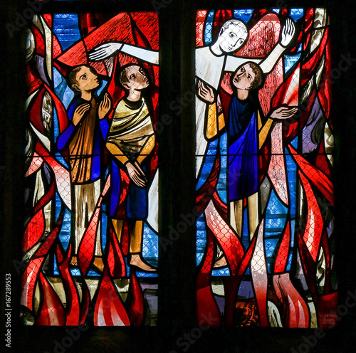 Photo Stained Glass in Tubingen - Purgatory