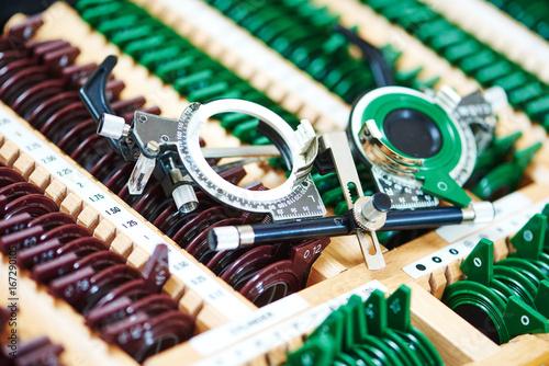 Photo test glasses phoropter for eyesight examinations