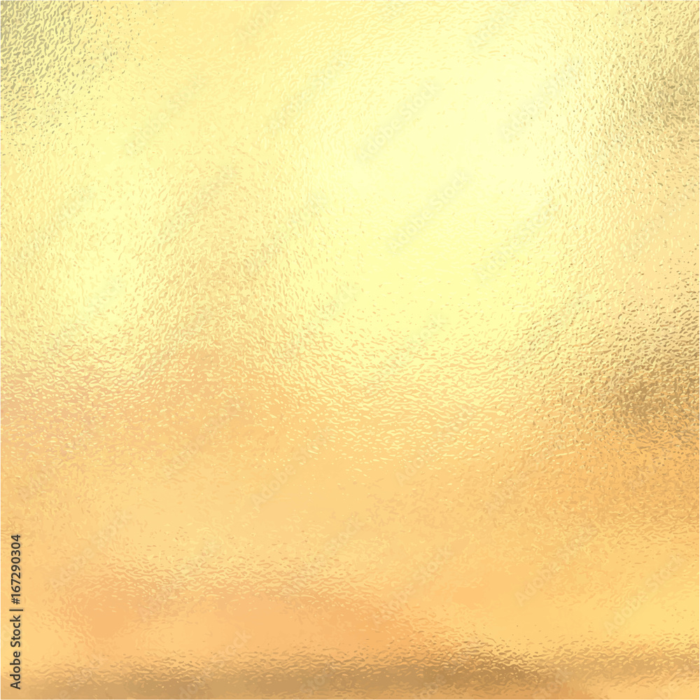 Fototapety, obrazy: Gold metallic foil, Vector illustration