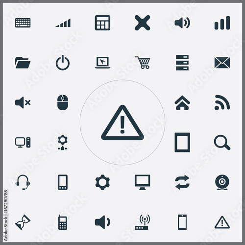 Vector Illustration Set Of Simple Device Icons  Elements