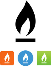 Natural Gas Icon - Illustration