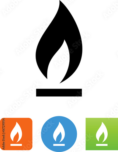 Fotomural Natural Gas Icon - Illustration