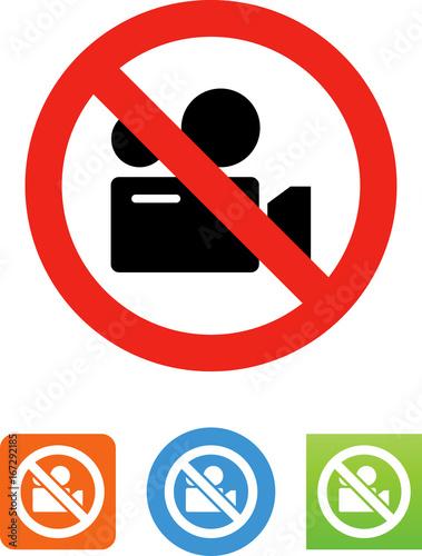 Fotografía  No Video Recording Icon - Illustration