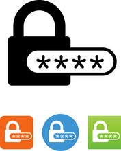 Password Secure Icon - Illustration
