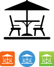 Patio Set Icon - Illustration
