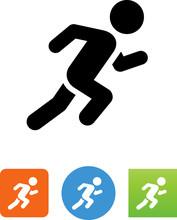 Person Sprinting Icon - Illust...