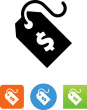 Price Tag With Dollar Sign Icon - Illustration