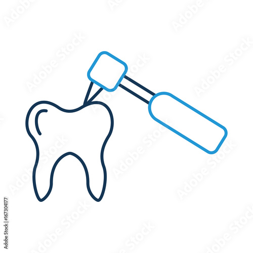 Human tooth with dental drill vector illustration design ...