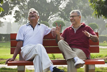 Old Men Sharing A Laugh