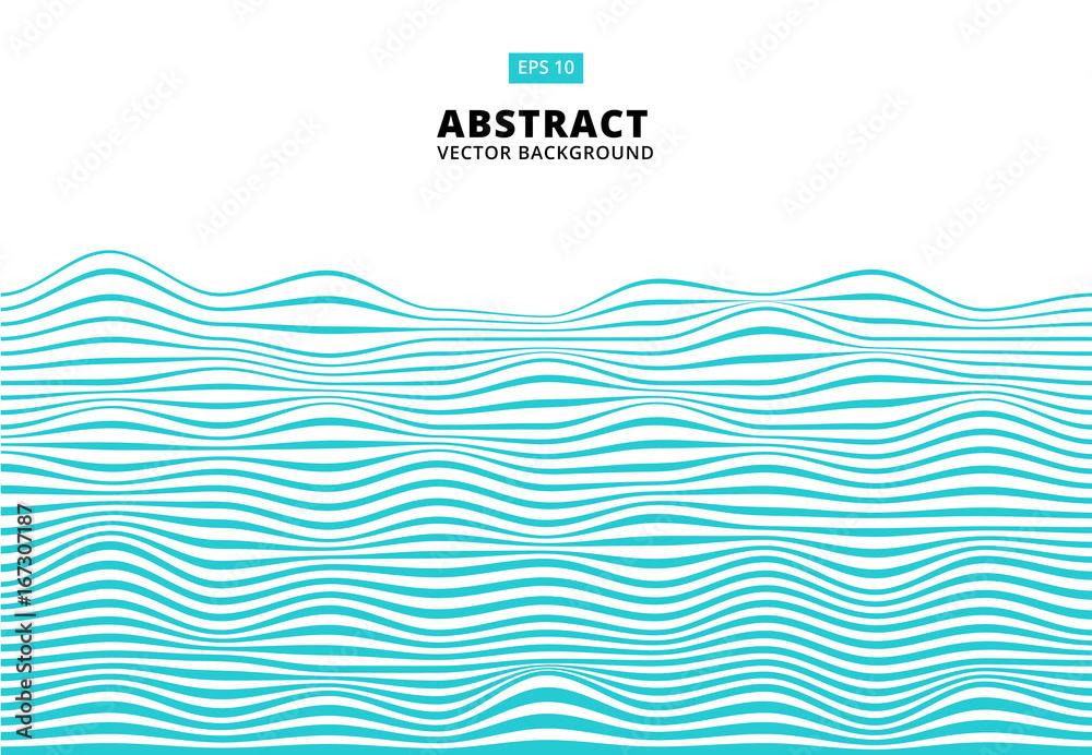 Abstrakcjonistyczne niebieskie linie machają, falisty lampasa wzór, Szorstka powierzchnia, wektor <span>plik: #167307187 | autor: phochi</span>