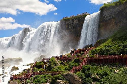 Küchenrückwand aus Glas mit Foto Wasserfalle Niagara Falls