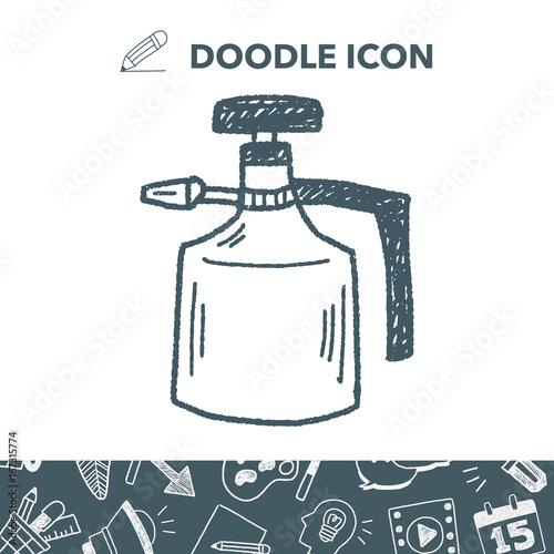 Obraz watering can doodle - fototapety do salonu
