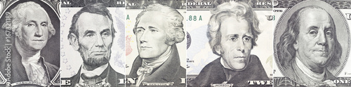 American presidents set  portrait on dollar bill  closeup Poster