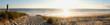 Leinwandbild Motiv coucher de soleil dans la forêt pres de la dune de plage