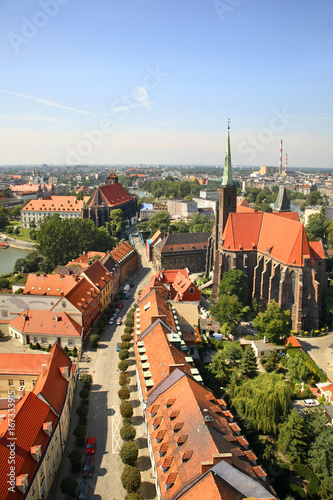 Deurstickers Brugge Panoramic view of Wroclaw. Poland