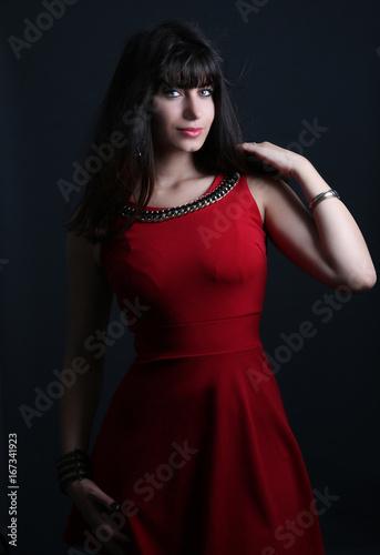Photo de belle robe rouge