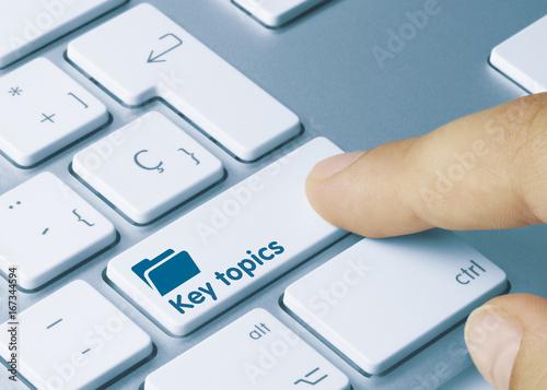 Fotografie, Obraz  Key topics
