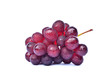canvas print picture - grapes isolated on white background