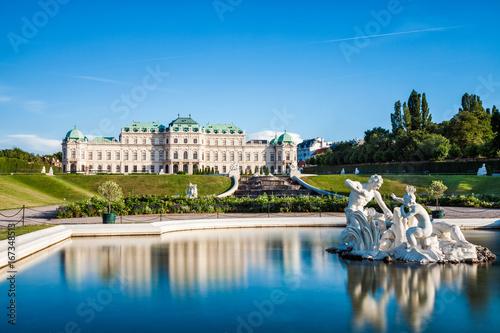 Spoed Fotobehang Wenen Belvedere palace in Vienna, Austria