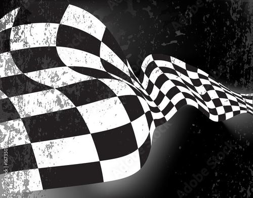Foto op Plexiglas F1 race flag wave, waveing checkered flag background layout