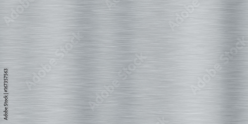 Photo sur Toile Metal Aluminum Brushed Metal Seamless Background Textures