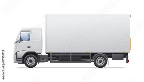 Commercial transport. Canvas Print
