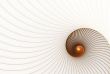 Abstract Fractal Spiral On A Light Background