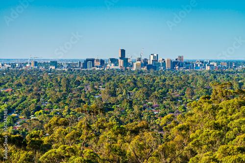 Photo Adelaide city skyline