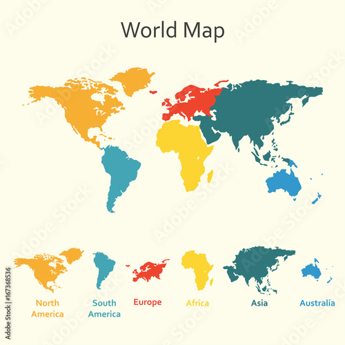 world map infographics vector design template of world map with
