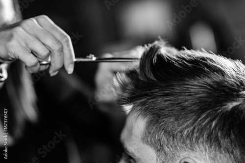 Tuinposter Kapsalon Hair styling