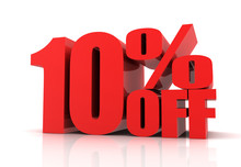 Ten Percent Off Sale Concept  3d Illustration