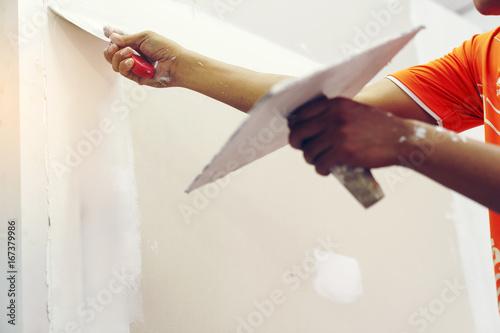 Fotografía  Hand image are plastered