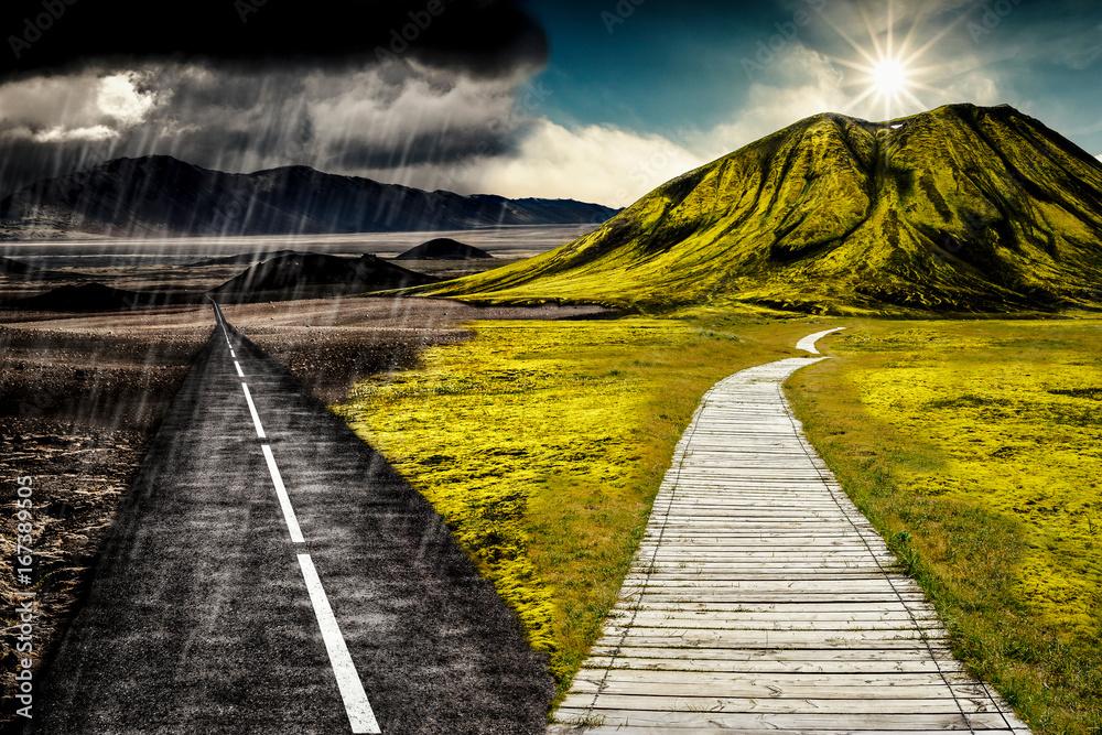 Fototapeta Sonne und Regen