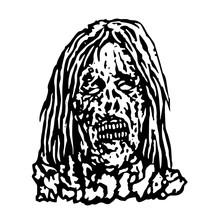 Terrible Head Of Zombie Woman....