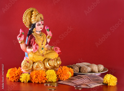 Photo  Lakshmi - Hindu goddess ,Goddess Lakshmi