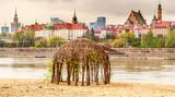Fototapeta Miasto - Panorama Warszawy