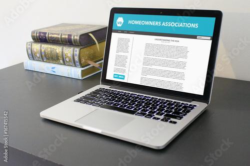 homeowners association blog post article laptop Canvas Print