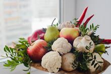 Autumn Bouquet Of Fresh Fruits...