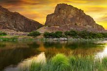 John Day River At Sunrise In O...